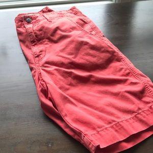 Men's peach colored shorts